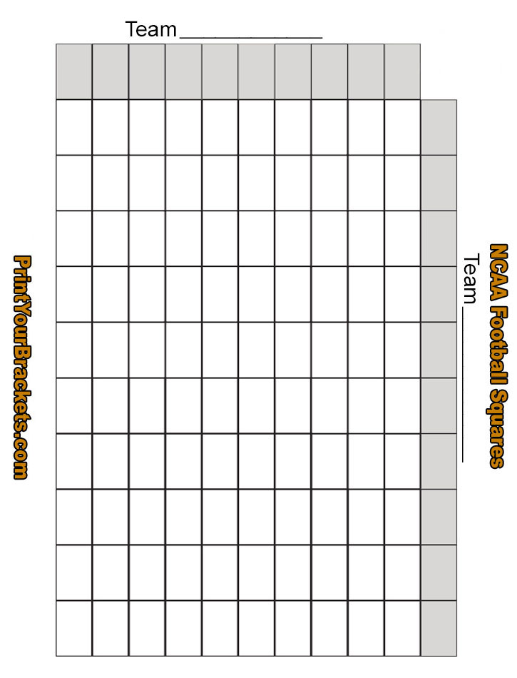 Nerdy image regarding football squares printable