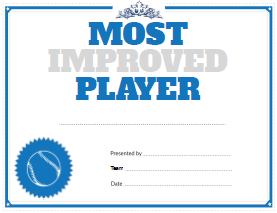 Baseball Most Improved Player Award