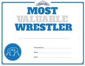 Wrestling Most Valuable Player Award