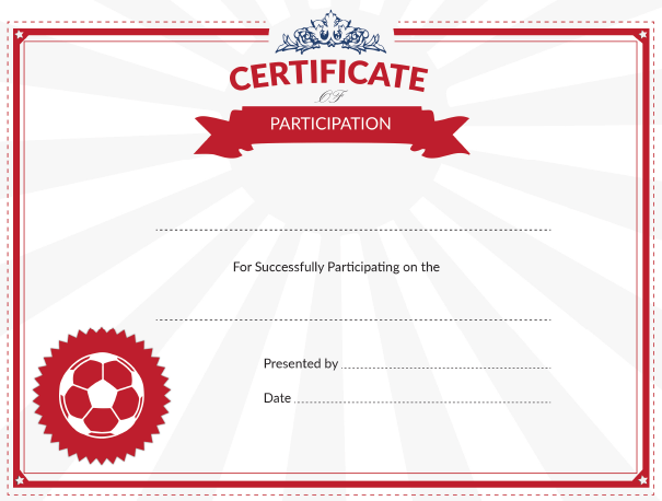 Soccer Participation Award