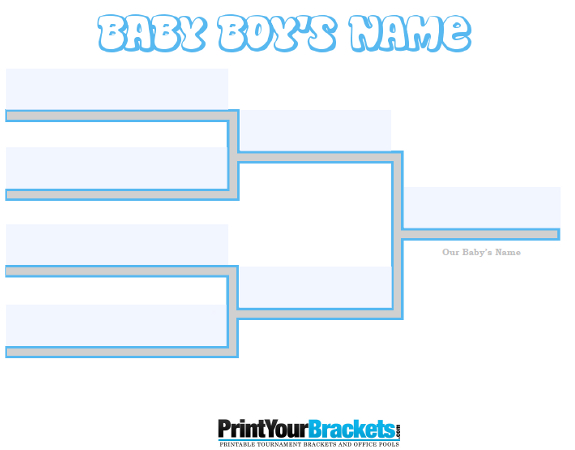 Fillable 4 Name Baby Boy Bracket