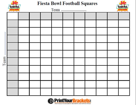 Printable Fiesta Bowl Football Squares