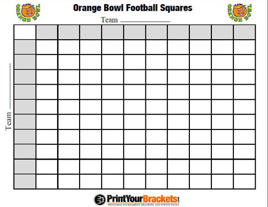 Printable Sugar Bowl Football Squares