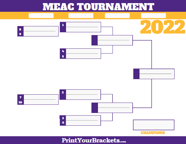 MEAC Conference Tournament Bracket 2019 Printable