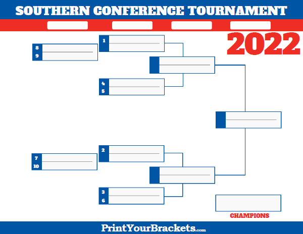 Southern Conference Tournament Bracket 2019 Printable