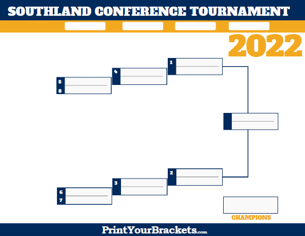 Southland Conference Tournament Bracket 2020 Printable