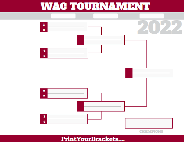 WAC Western Athletic Conference Tournament Bracket 2019