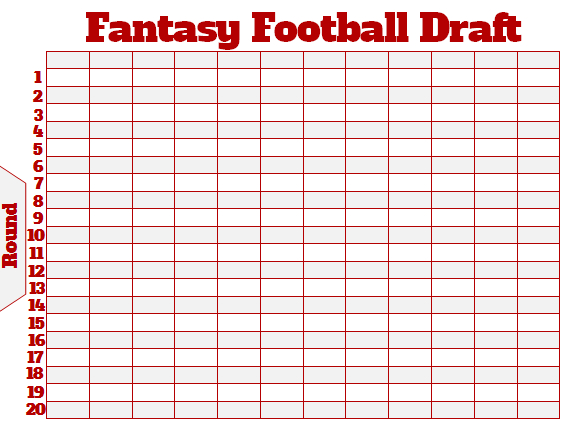 Effortless image inside printable fantasy football draft board