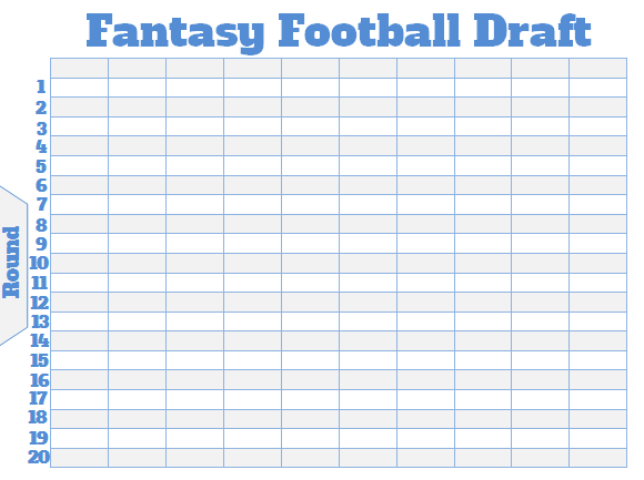 Free Large Fantasy Football Draft Board