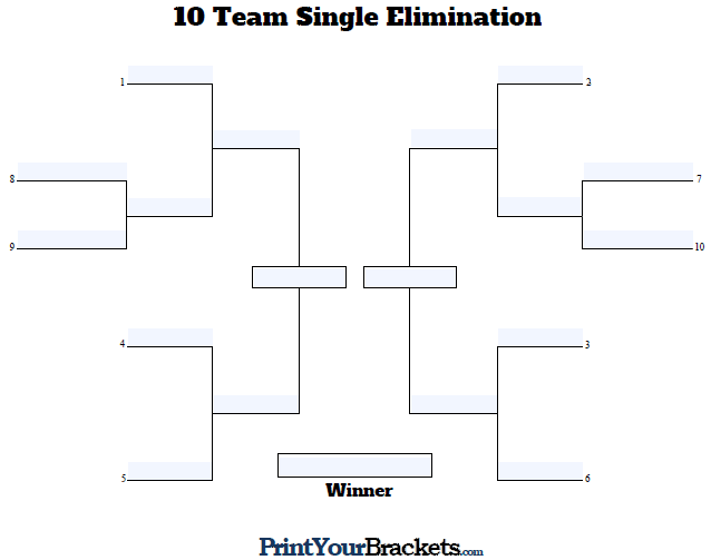 Printable pool tournament brackets printable brackets for Game bracket template
