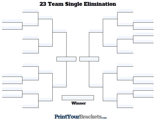 Fillable 23 Team Bracket