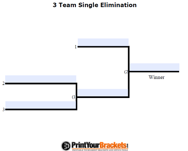 Fillable Seeded 4 Team Tournament Bracket