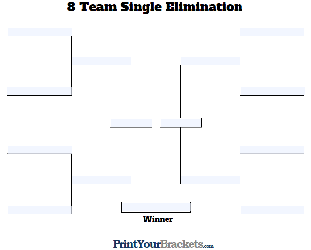 fillable 8 team tourney bracket editable bracket