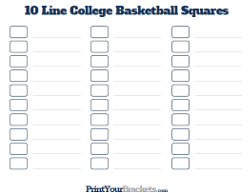 10 Line NCAA Tournament Squares