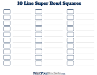 10 Line Super Bowl Pool