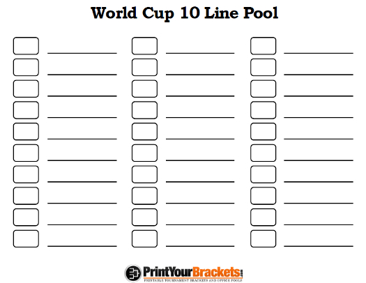 Printable 10 Line World Cup Squares