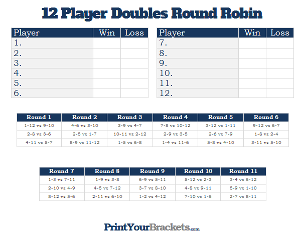 printable 12 player switch doubles round robin tournament