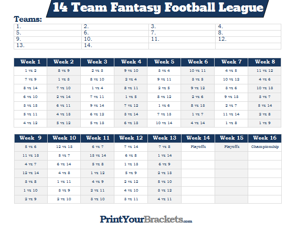 8 team schedule maker