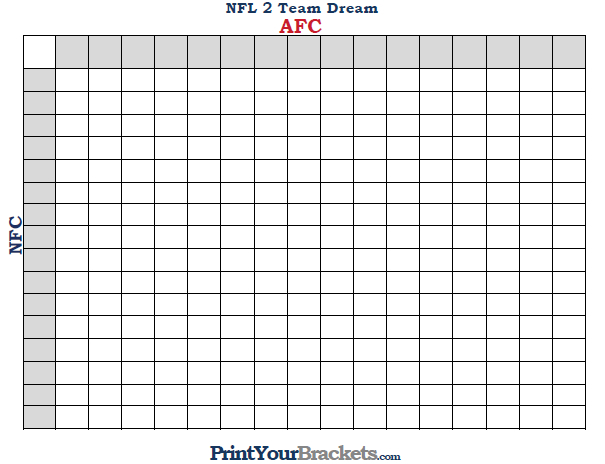 Foot Ball Square Template Team Dream Football Pool Nfl Team Dream