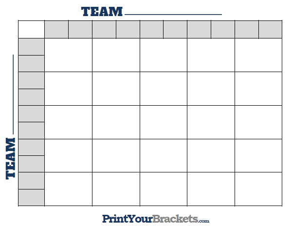 Printable 25 square football grid template 25 square football pool pronofoot35fo Choice Image