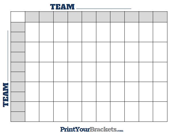 Printable 50 square football grid template for Football blocks template