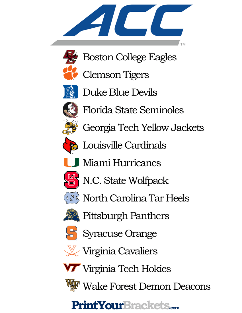 image about Acc Printable Bracket titled Listing of Groups inside of the ACC - Printable