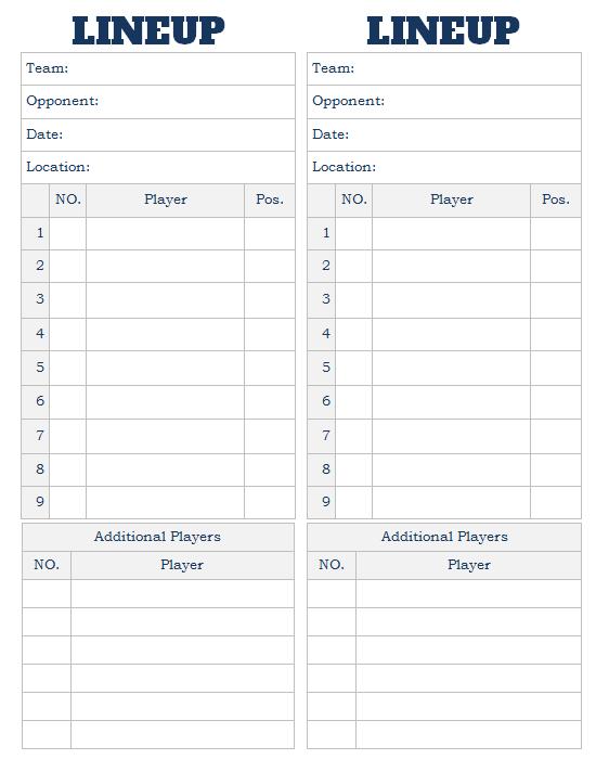 printable baseball lineup card