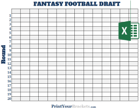 Unusual image with regard to printable fantasy football draft board