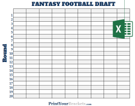 photo regarding Fantasy Football Draft Sheets Printable Blank named Excel Spreadsheet Myth Soccer Draft Discussion boards