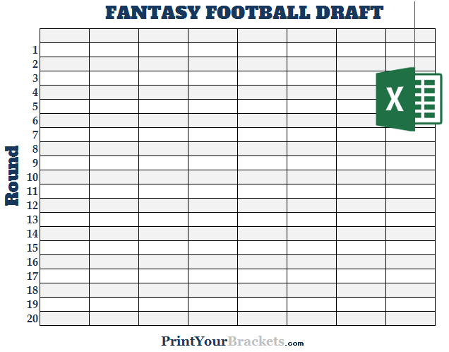 Hilaire image pertaining to printable fantasy football draft board