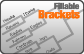 Fillable Tournament Brackets