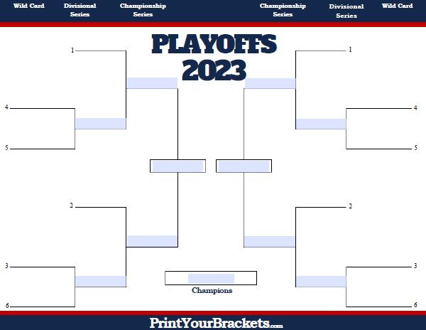 picture regarding Mlb Playoff Bracket Printable named Fillable MLB Playoff Bracket - Editable 2019 MLB Bracket