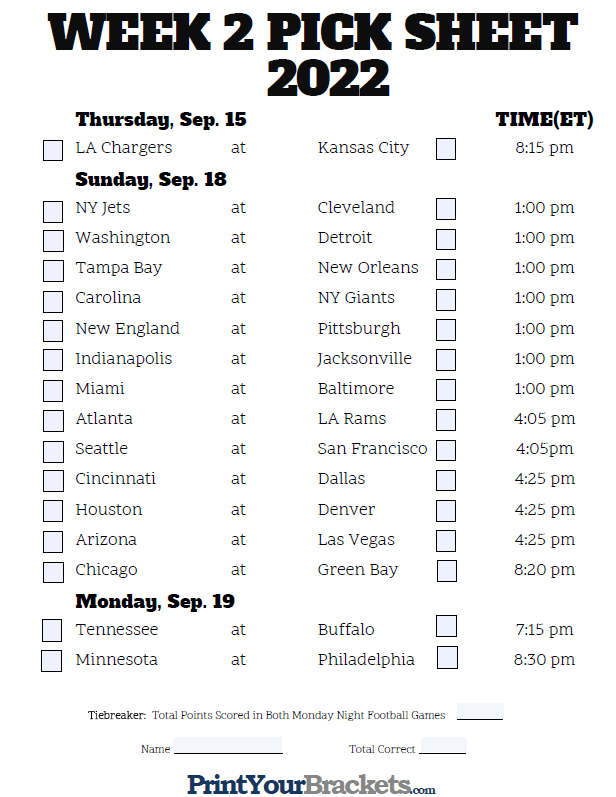 Crafty image intended for printable nfl weekly pick em sheets