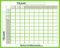 image about Printable 25 Square Grid identified as Soccer Squares - Printable Sq. Grid Template