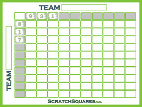 Football Square Grid Scratch Off