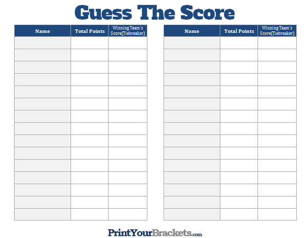 photograph regarding Super Bowl Party Games Printable named Printable Bet the Rating Tremendous Bowl Social gathering Match