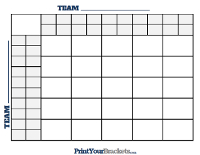 25 Square Grid with Halftime Lines