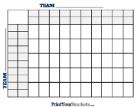 50 Square Grid with Halftime Lines