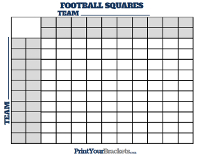 Football Square Board with Halftime Lines