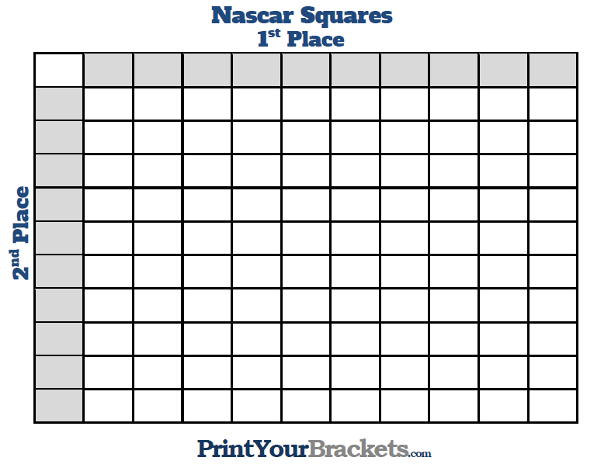 Nascar Square Grid office Pool