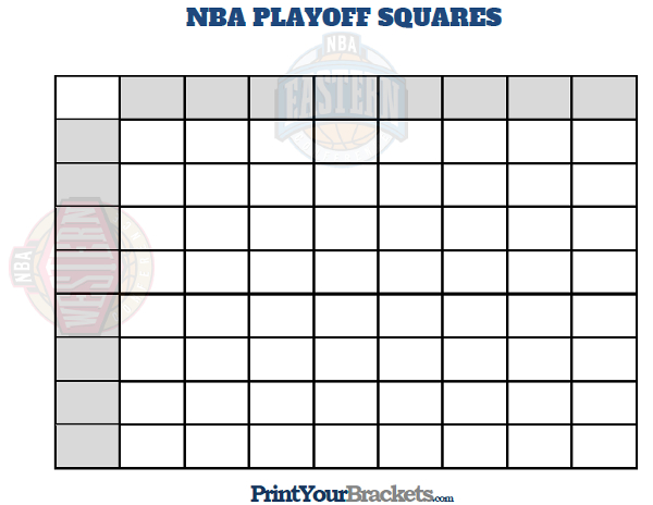 Printable NBA Playoff Squares