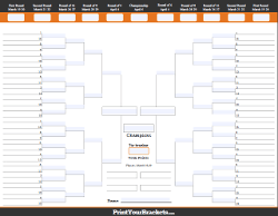 NCAA Fillable Bracket Basketball Pool