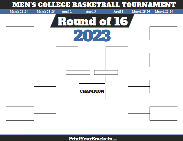 picture regarding Sweet 16 Printable Bracket identified as Adorable 16 Bracket Television Plan for 2020 NCAA Match