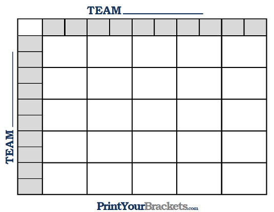 Printable Ncaa Football BCS Squares 25 Grid Office Pool