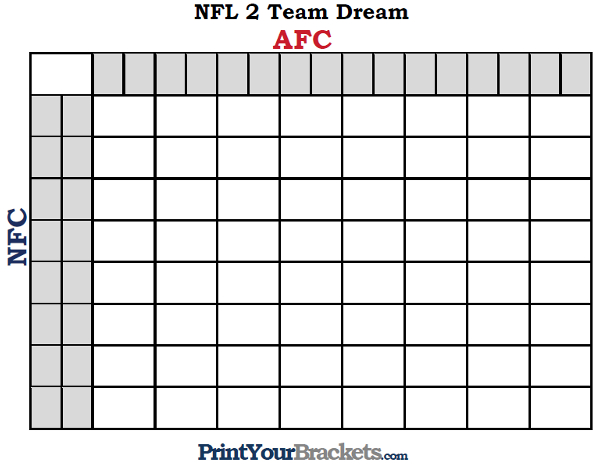 Football Pool Template Nfl Team Dream Football Pool Football