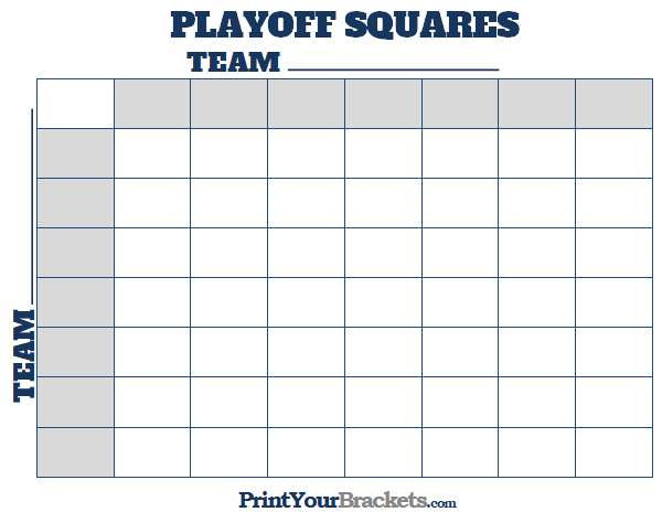 image regarding Printable Nfl Playoffs Bracket titled Printable NFL Playoff Squares Soccer Place of work Pool