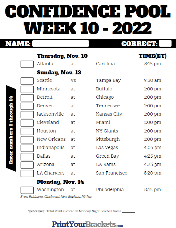 Nfl Tipping Competition Week 10 Any Other Business Any Other Sports Total Rugby League Fans Forum