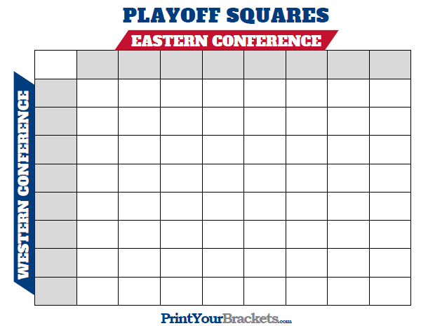 picture regarding Printable Nhl Playoff Bracket identify Printable NHL Playoff Squares Print Business Pool