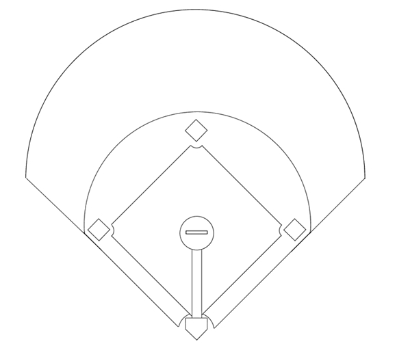 photograph regarding Printable Baseball Depth Chart identified as Printable Baseball Diamond Diagram