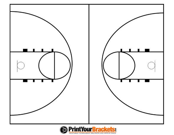 printable basketball court diagram